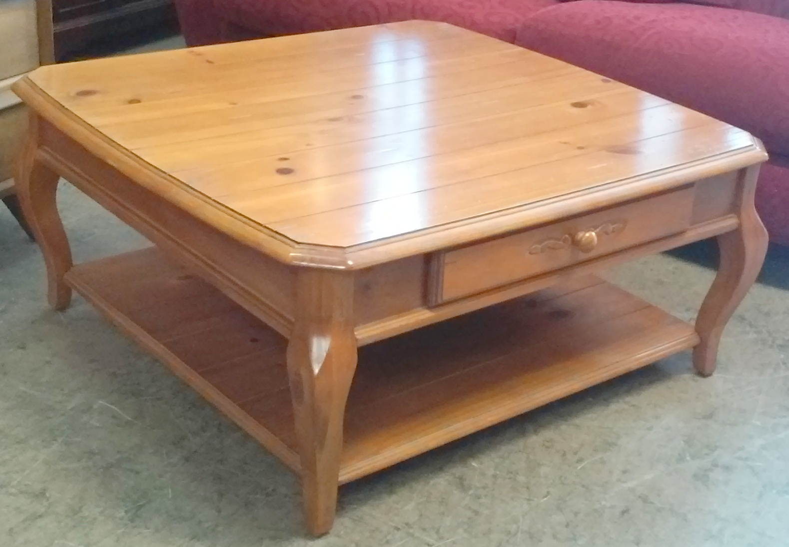 Uhuru Furniture Collectibles Sold Reduced 38 Knotty Pine Coffee Table 45