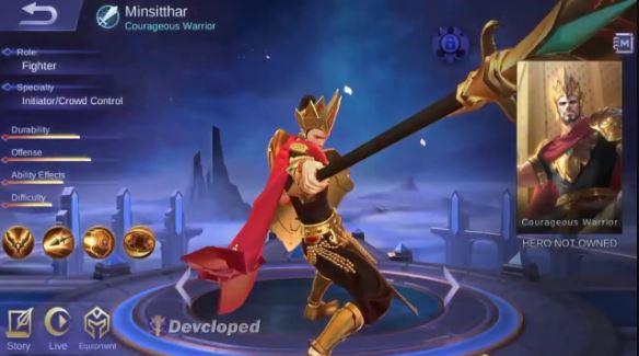 Kapan Tanggal Rilis Hero Minsitthar Mobile Legends di Server Ori
