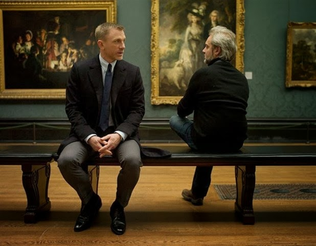 Daniel Craig and Sam Mendes filming Skyfall