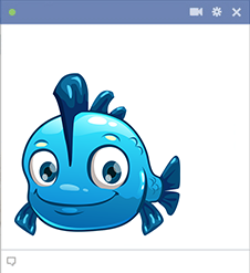 Blue fish Facebook sticker