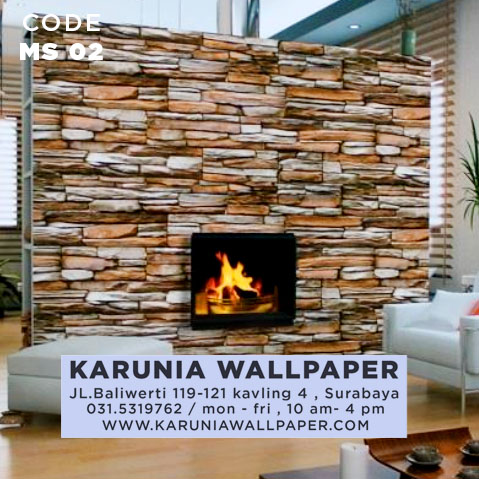 jual wallpaper batu bata besar