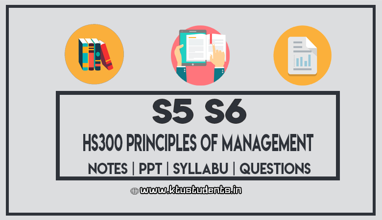 HS300 Principles of Management - Question Papers | Notes