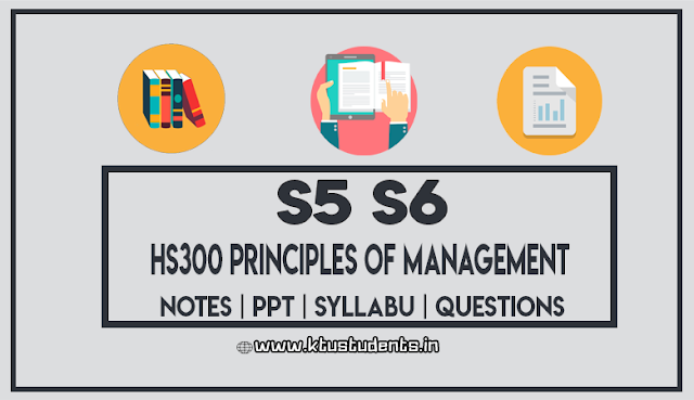 KTU HS300 Principles of Management