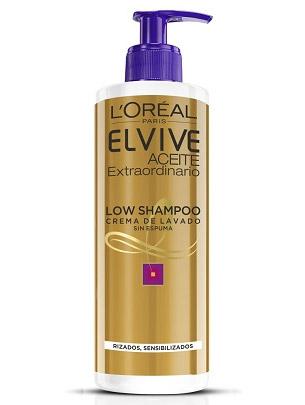 L'Oréal Low Shampoo crema lavado cabello rizado sensibilizado