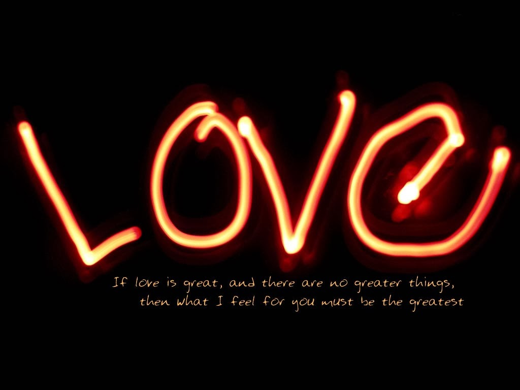 Neon Love Quotes HD Wallpapers