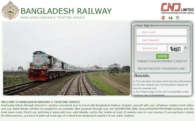 bangladesh railway online ticket official website
