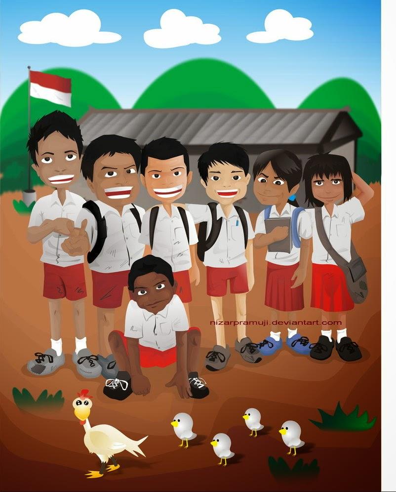 Kumpulan Gambar Kartun Anak Sekolah Dasar Galeri Keren