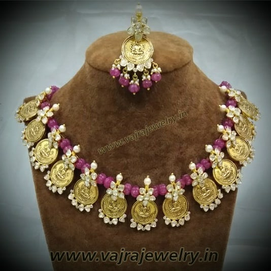 Ruby Beads Set with Lakshmi