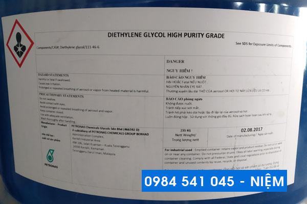 Dung môi công nghiệp Diethylene Glycol
