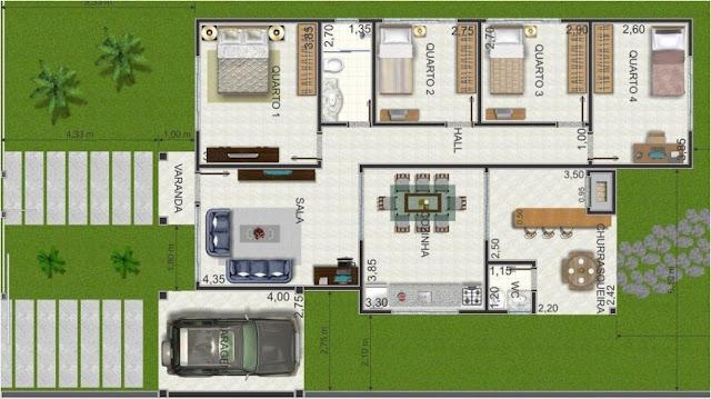 Colorful Floor Plan