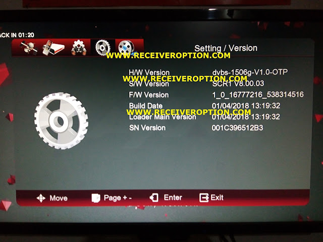 1506G HD RECEIVER POWERVU AUTO ROLL NEW SOFTWARE