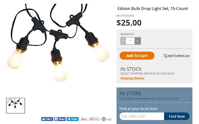 Booth Crush Edison Bulb String Lights