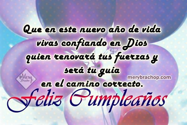 Frases de cumpleaños con el salmo 23 para amigo, hijo, hija, hermano cristiano, mensaje cristiano de feliz cumpleaños.
