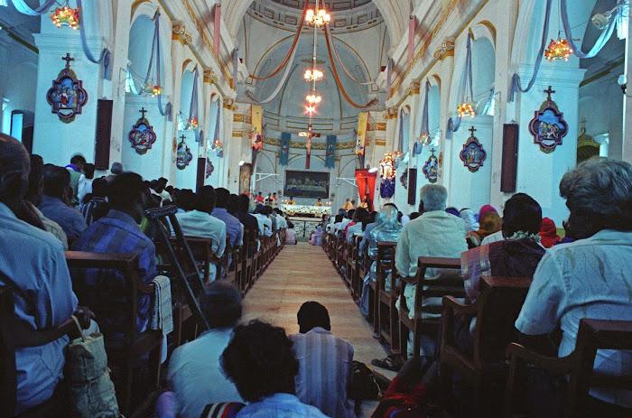 Pondichéry, Basilique, © L. Gigout, 1990