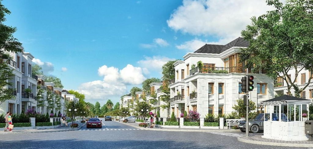 Phối cảnh khu biệt thự liền kề Vincity New Saigon