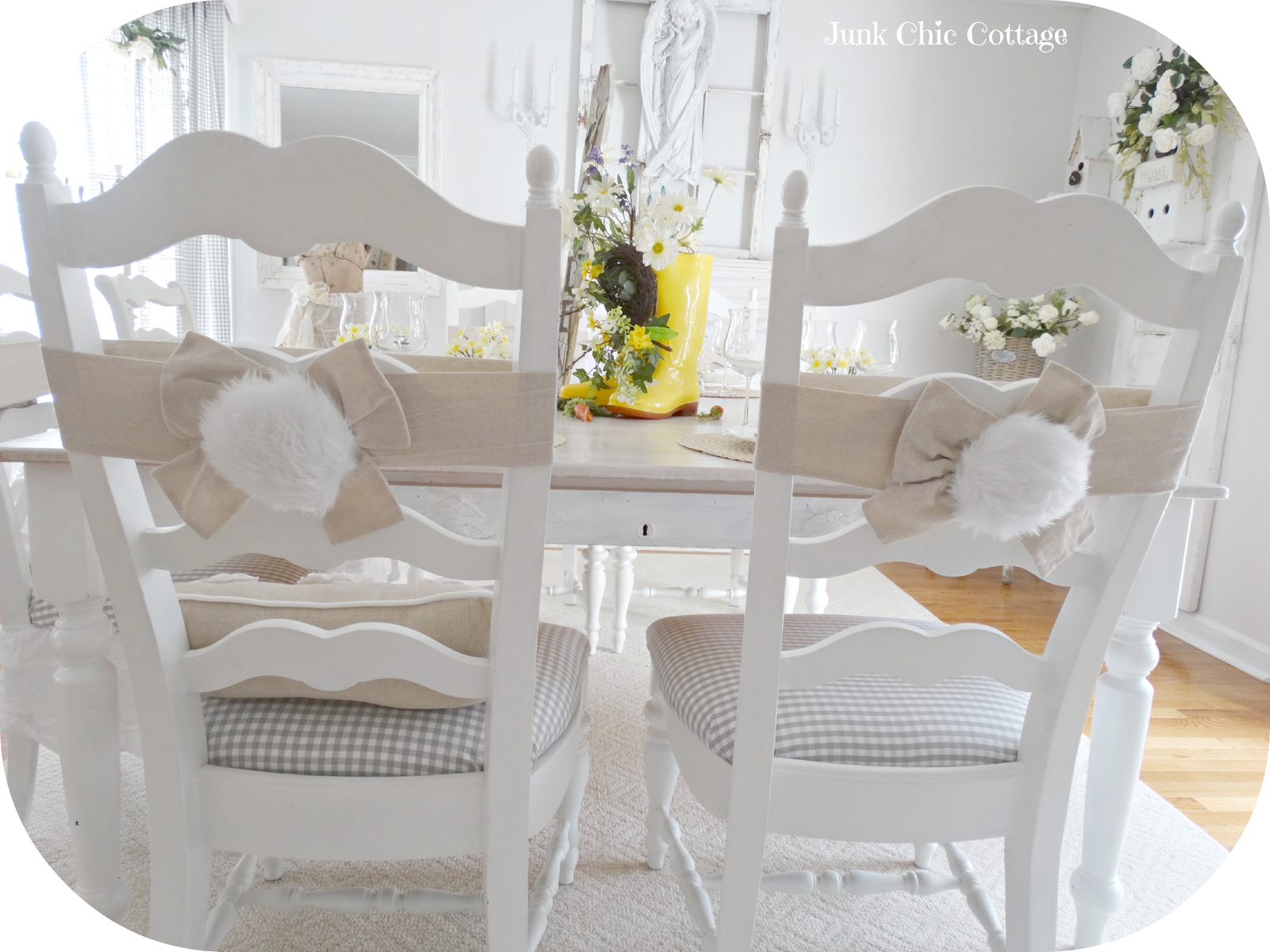 Junk Chic Cottage Easter Table Setting