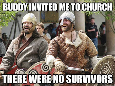 Meme de humor sobre vikingos