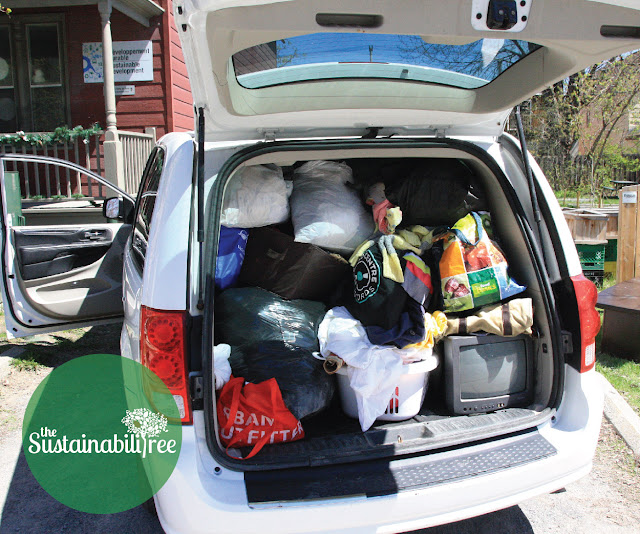 A full van donations for the uOttawa dump and run 2017