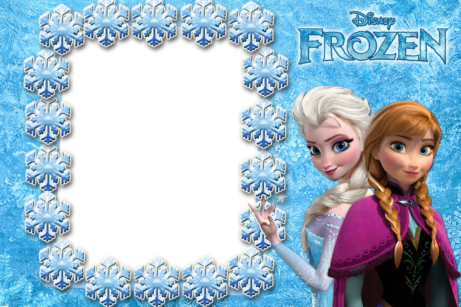 Frozen picture frame for Pictureframes net