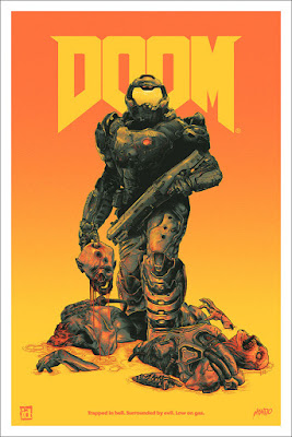DOOM Video Game Screen Print by Gabz x Mondo