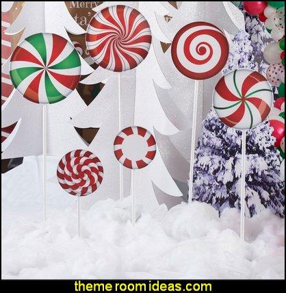 Christmas Lollipop Props   candy Christmas theme decorating - candy themed christmas decorations - christmas candyland decorations -  candy ornaments -  candy shaped holiday ornaments - candy themed Christmas decor -