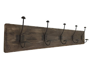 Rustic Wall Mounted Coat Rack