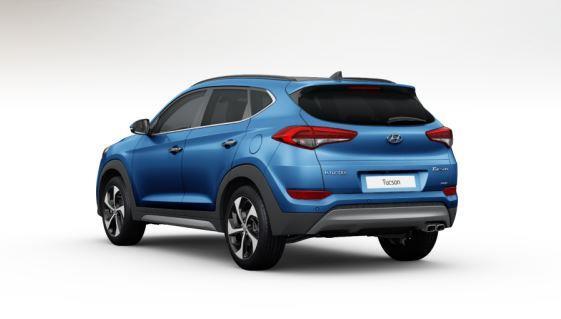 colori Nuova Hyundai Tucson 2016 Blu Chiaro - Ara Blue retro posteriore dietro