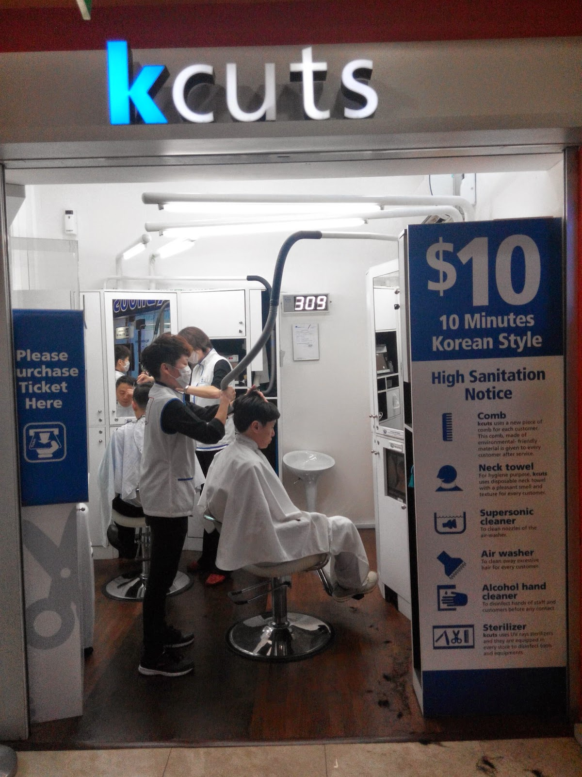 kcuts barbershop, Holland Village outlet, Singapore