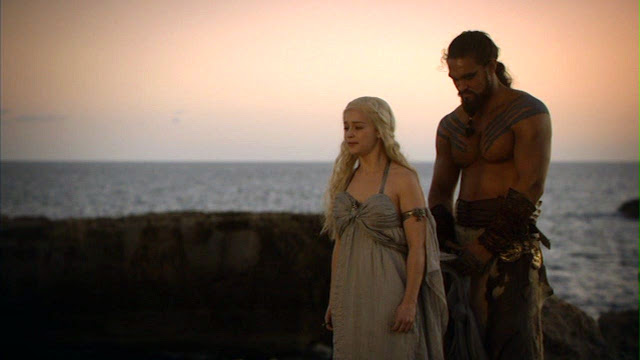 Daenerys et Drogo dans Game of Thrones