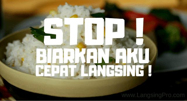 Berhenti Makan Nasi Cepat Langsing