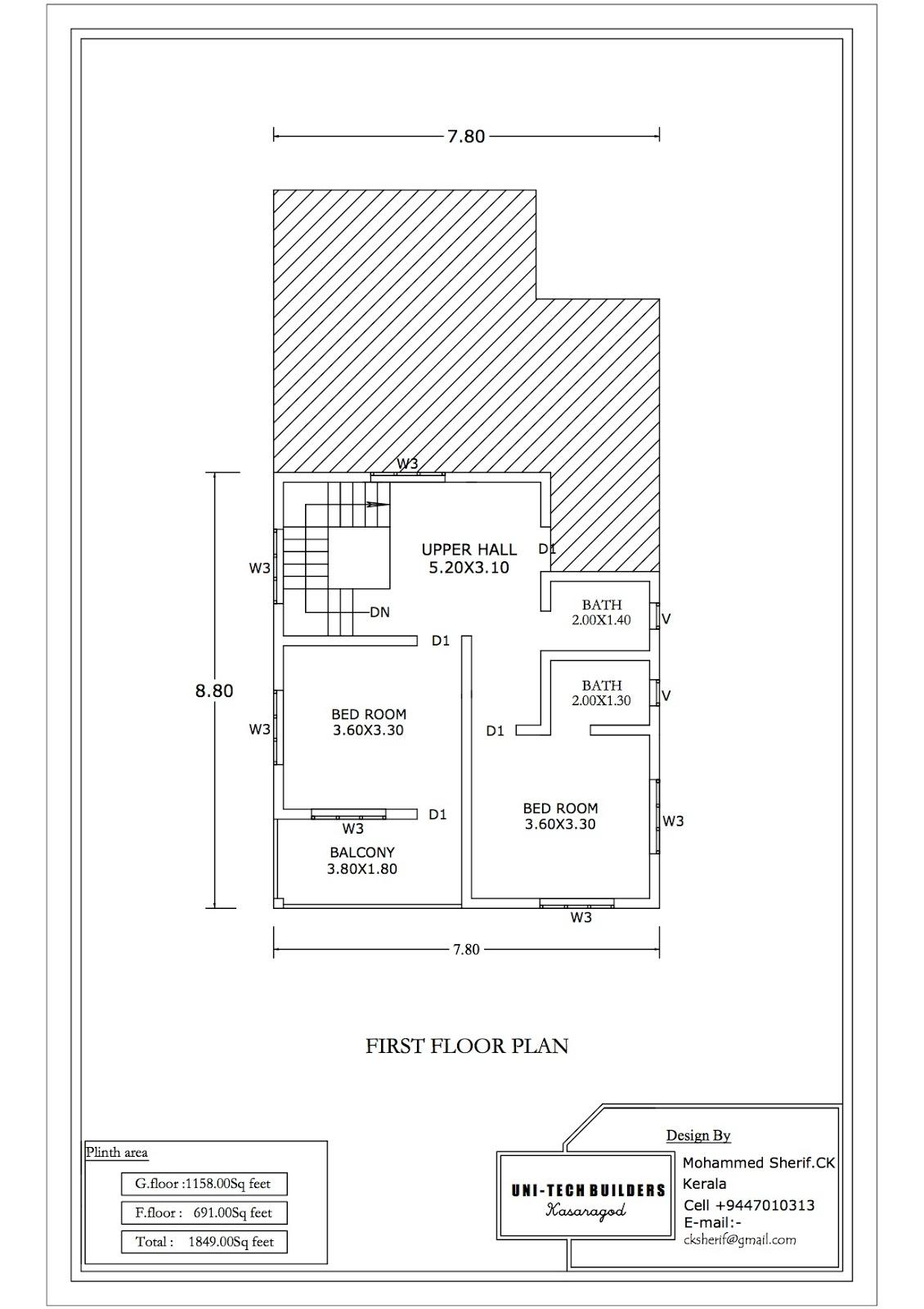 Free home plan 2 Floor 4 Bedroom 4 Bathroom 1849 sqft