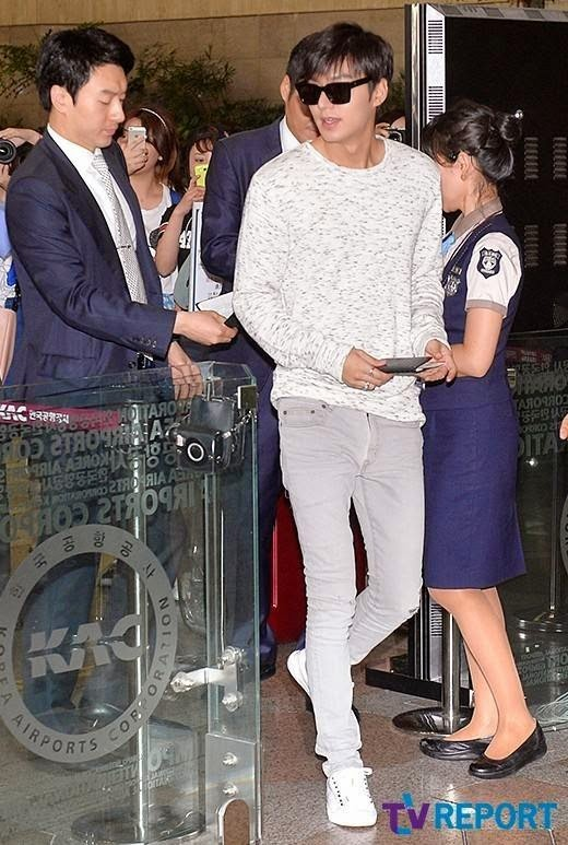 56642dd45d Lost My Heart or Lee Min Ho  20140714 Lee Min Ho departs from Gimpo ...
