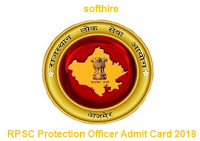 RPSC Protection Officer Admit Card