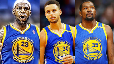 LeBron James, Stephen Curry, Kevin Durant