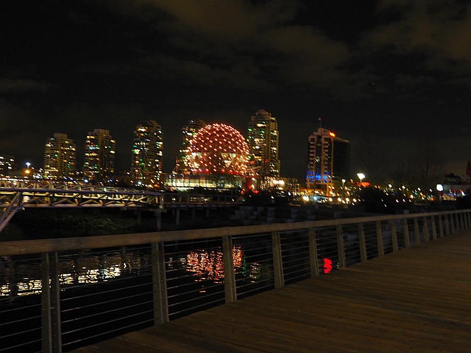 Telus Science center Vancouver night
