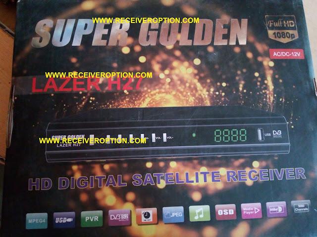 SUPER GOLDEN LAZER H27 HD RECEIVER BISS KEY OPTION