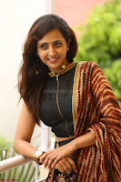 Lasya looks super cute in black choli Saree at Raja Meru Keka Press Meet ~  Exclusive 069.JPG