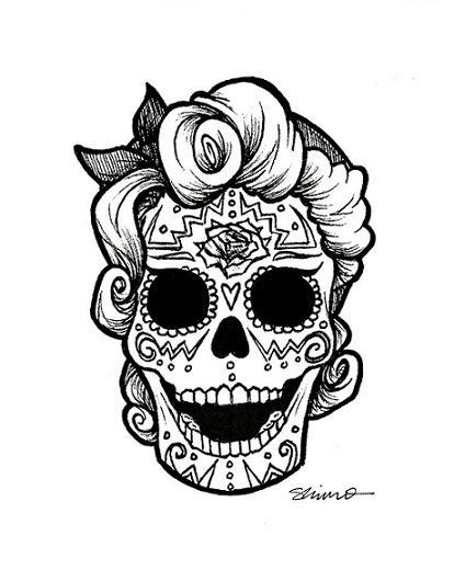 El Mundo Seredipity Calaveras Mexicanas Para Dibujar O Bordar