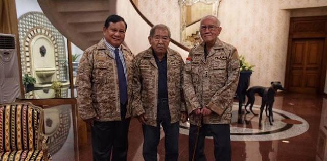 Prabowo Bersama Dua Jenderal Sepuh