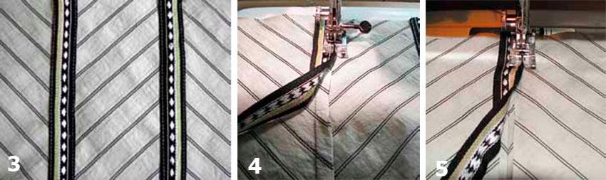 Оригинальная отделка швейных изделий