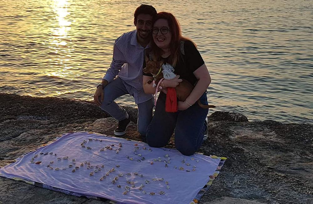 Pedido de casamento + na praia+ costa da caparica + blogue de casal + português + blogue ela e ele + ele e ela + pedro e telma