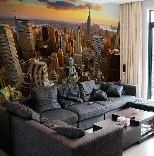 cool tapet new york fototapet vardagsrum