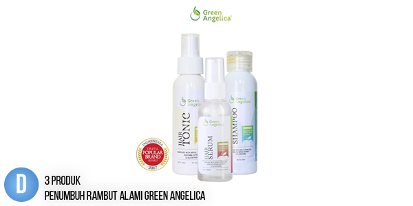 3 Produk Penumbuh Rambut Alami Green Angelica