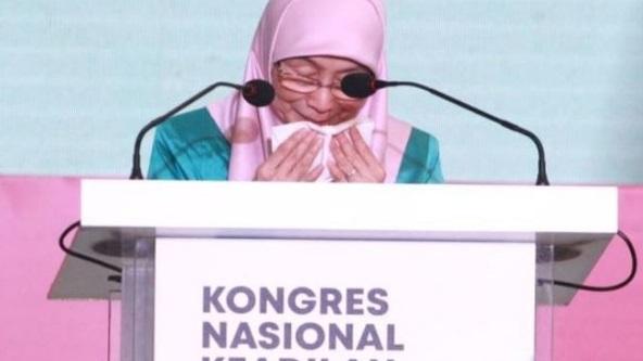 Datuk Seri Azizah sebak, akhirnya beliau ucap selamat tinggal