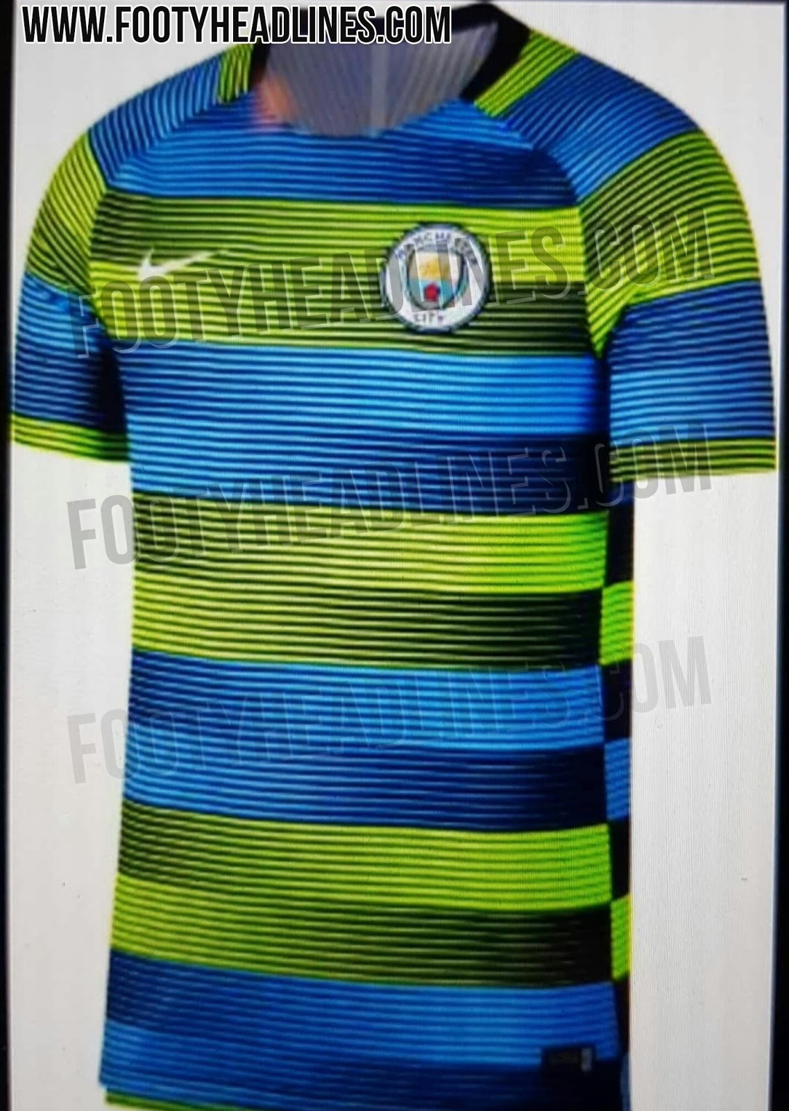 ba12afecc Discount Exclusive  Insane Manchester City 18-19 Pre-Match Jersey Leaked