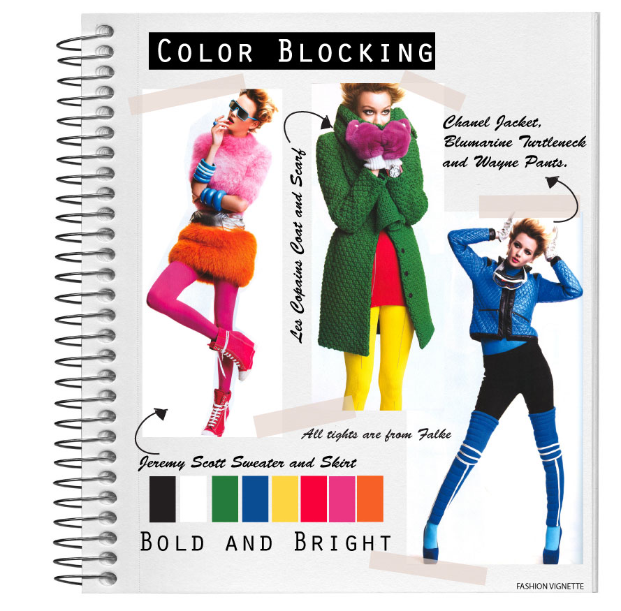 Fashion Vignette Style Book Color Blocking