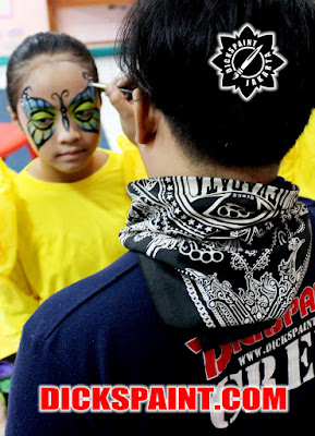 face painting butterfly kids jakarta