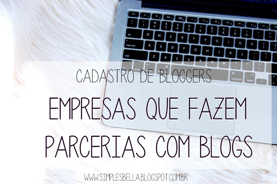Empresas que fazem parcerias com blogs de beleza
