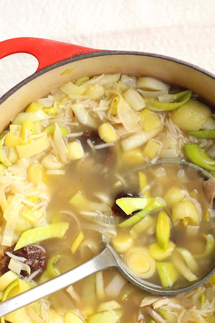 soupe ecosse poulet poireaux