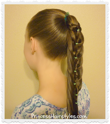 Back to school hairstyle! Kaleidoscope loop pull through ponytail tutorial.